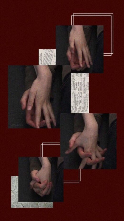 Hugging hands of a man and a girl.
